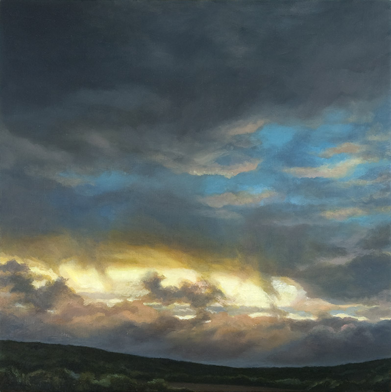 Waychnicup Sunset II  (oil over gesso on marine ply 30 x 30 cm 2007)