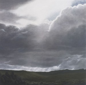 Waychinicup Rain Clouds II (oil over gesso on marine ply 30 x 30 cm 2007)