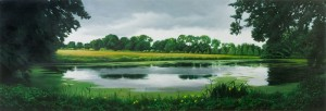 After the Rain  (oil on board 28 x 83 cm 2009)
