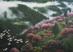 Mountains and Mist (oil on canvas 88 x 108 cm 2012)