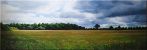 Then a Cloud Passed  (oil on canvas 57.5 x 168 cm 2012)