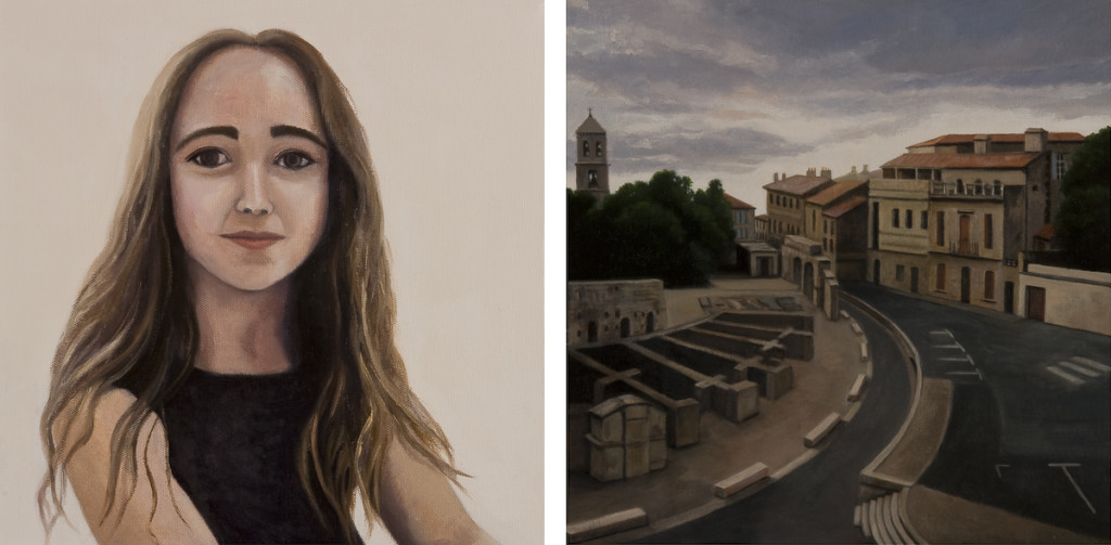 Portrait of a Young Woman, Mim and Sunset Over Arles