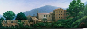 All in Stillness Stands (oil on canvas 40 x 120 cm 2003)