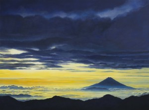 Mt. Fuji – Above the Clouds II (oil on canvas 88 x 108 cm 2012)