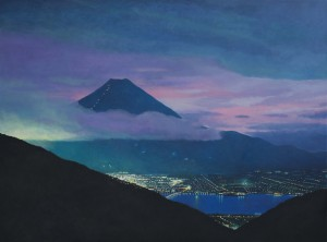 Mt. Fuji- City Meets Mountain II  (oil on canvas 88 x 108 cm 2012)