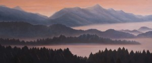 Forest and Mountains (oil on canvas 87 x 207 cm 2012 )