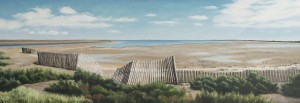La Carmargue - The Fence (oil on canvas,48 x 138 cm) $4000    SOLD