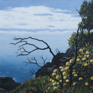 Printemps (framed)(oil on canvas, 30 x 30 cm) $1500