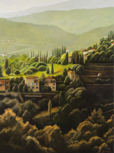 The Valley II (oil on canvas, 138 x 80 cm)$5,800