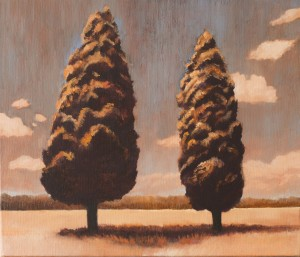 We Stand Together (oil on canvas, 32 x 36 cm) $2000