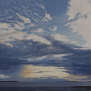 Clouds - St Kilda Beach (oil on canvas, 30 x 30 cm)  $1500